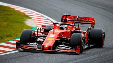 2019年F1第17戦 日本GP、PPはベッテル