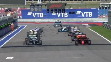 2019年F1第16戦のスタート