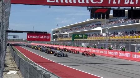 2019年F1第19戦のスタート