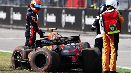 ガスリーがまたしてもミスでマシンをクラッシュさせる@F1ドイツGP初日