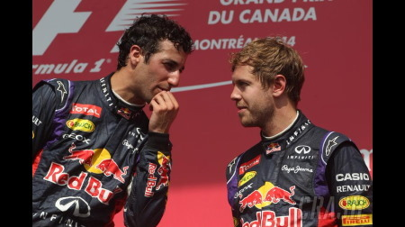リカルド「ベッテルが若手に突き上げられているという点で2014レッドブルとフェラーリは似ている」