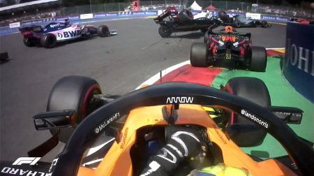 フェルスタッペン、スタート失敗でライコネンと接触事故に@F1ベルギーGP・スパ