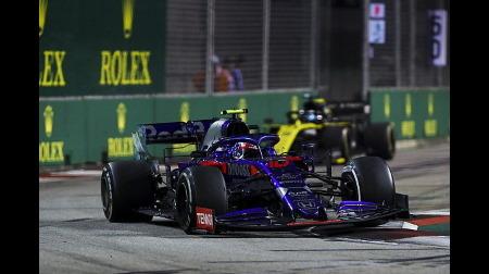 ガスリー、ピットミスもオーバーテイクで挽回@F1シンガポールGP