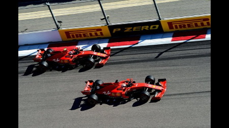 ベッテルがチームの指示無視@F1ロシアGP