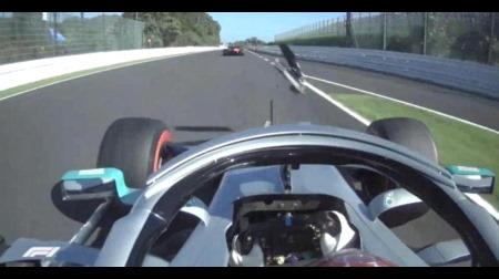 ハミルトンがデブリを神回避@F1日本GP