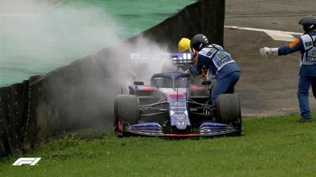 トロロッソの2台にエンジン(PU)起因と思われるトラブル@F1ブラジルGP初日