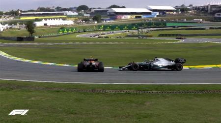 ハミルトンにペナルティ@F1ブラジルGP決勝