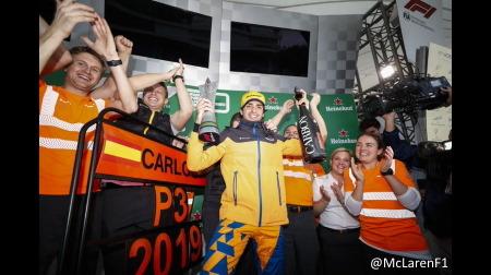 サインツが繰り上げ3位表彰台@F1ブラジルGP決勝