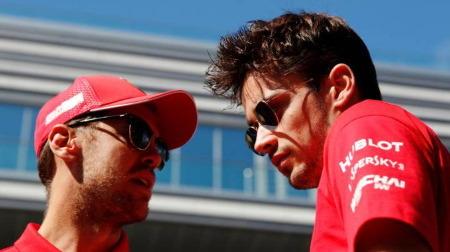 ベッテルとルクレールがF1アブダビGP木曜日のプレスカンファレンスで顔合わせ
