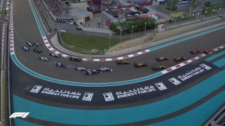 ガスリー、スタート直後の接触で入賞逃す@F1アブダビGP