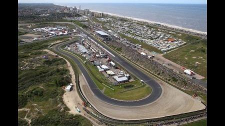 ザントフールト最終コーナーのバンクのCGイメージ@F1オランダGP