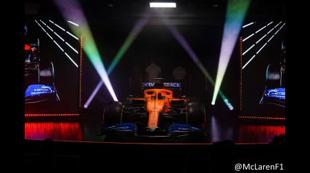 マクラーレン、バルセロナで新車MCL35をシェイクダウン