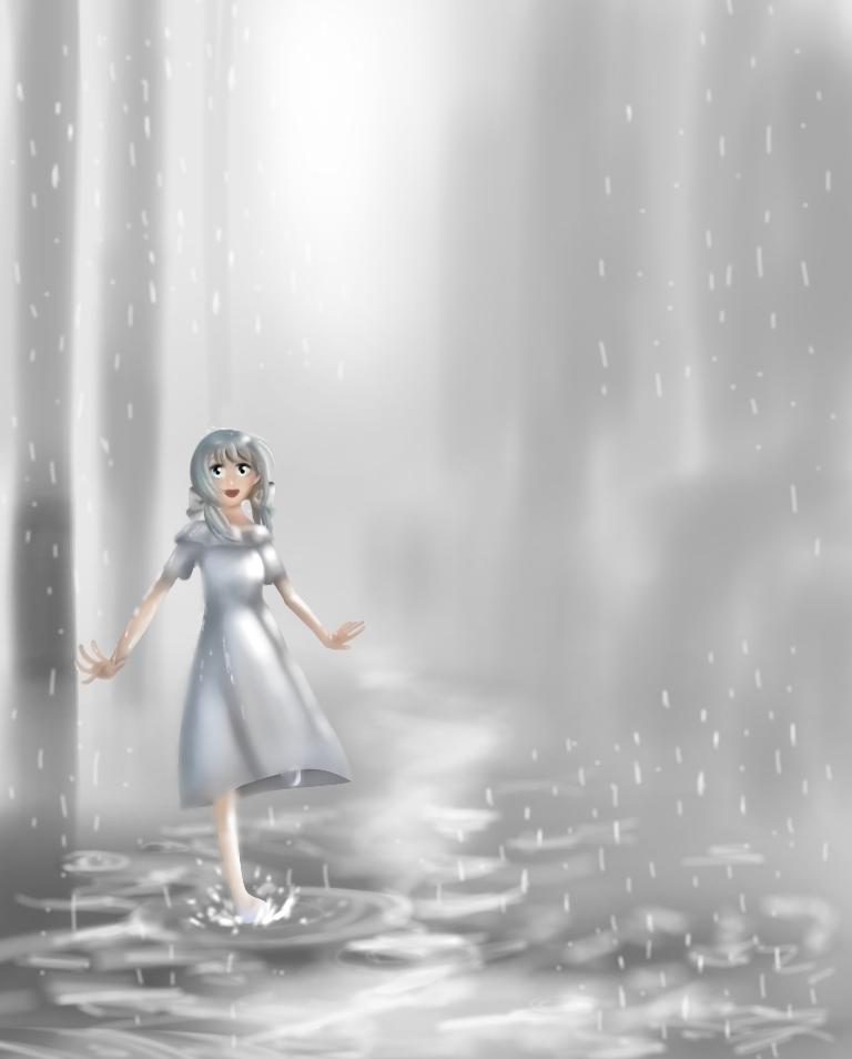 ミクちゃんと雨と灰色