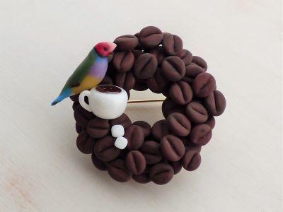 20190628コーヒー豆とコキンチョウ