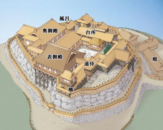 小牧山城本丸復元図640