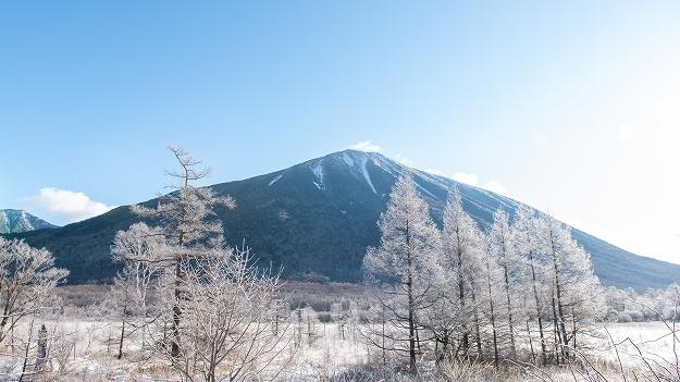 霧氷着く 戦場ヶ原