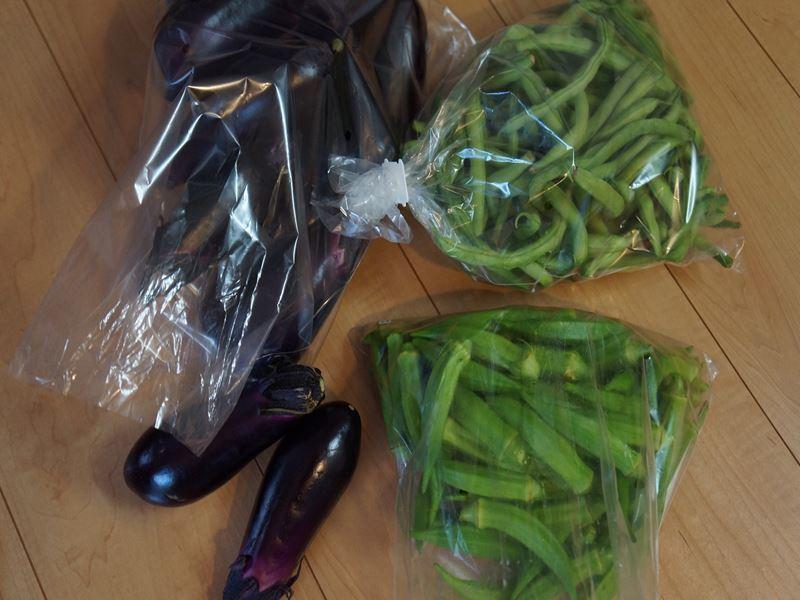頂き物の野菜