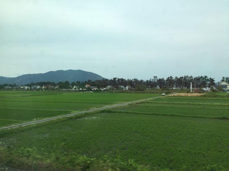車窓からの琵琶湖