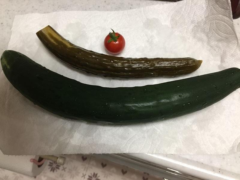 自家製野菜で糠漬け