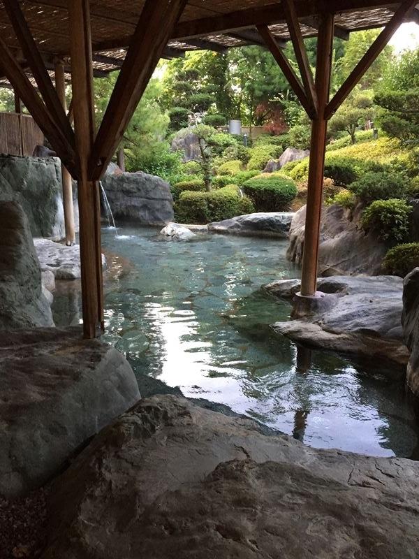 昼神温泉宿の露天風呂