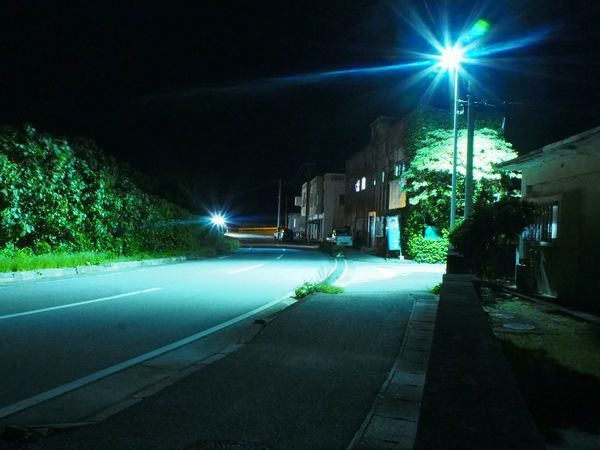夜の与那国島