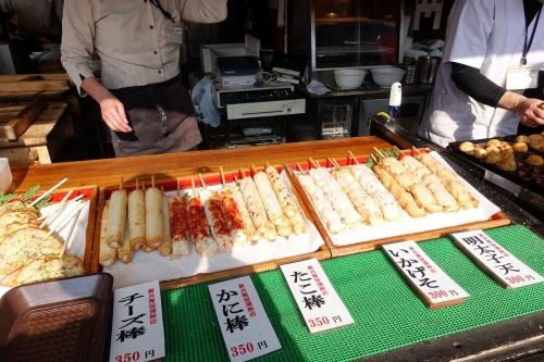 岸和田サービスエリア 上り線 旨いもの横丁 かねしん蒲鉾の串揚げ (4)