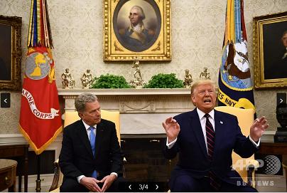 20191003トランプとフィンランド大統領
