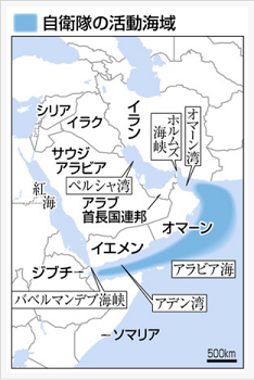 20191227自衛隊の活動海域