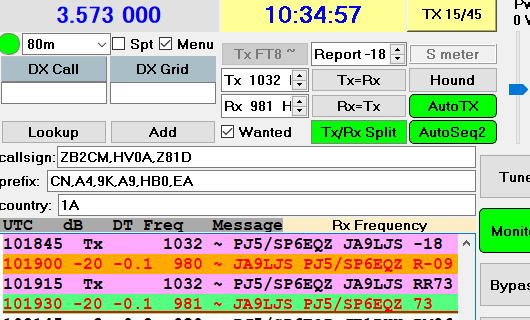 PJ5 SP6EQZ 80m FT8