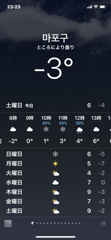明日は雪が降るのかな?w