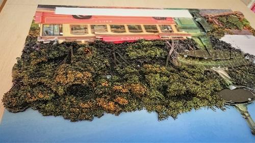 湯本千絵 シャドーボックス 木 制作過程