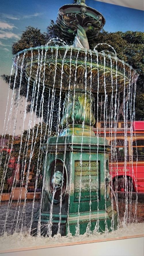 湯本千絵 シャドーボックス 噴水 制作過程