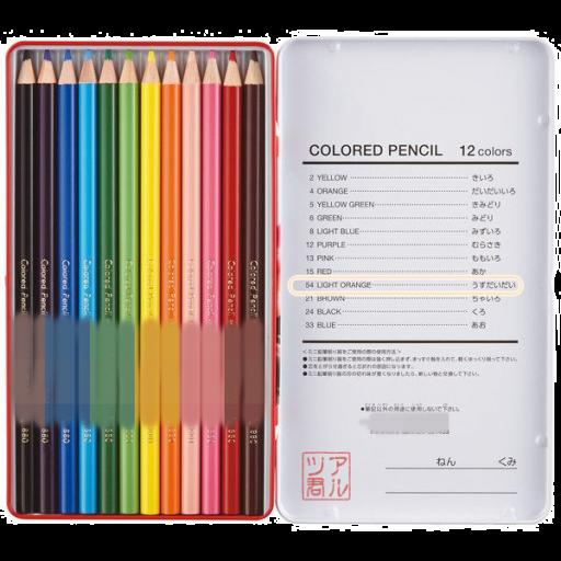 色鉛筆の色表記