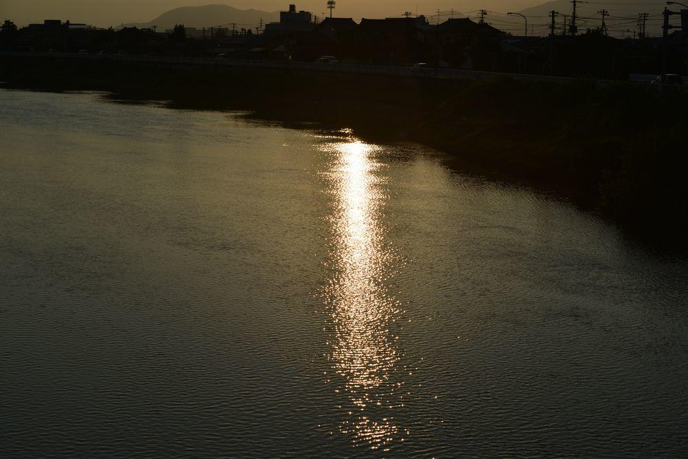 河の日暮れ-2