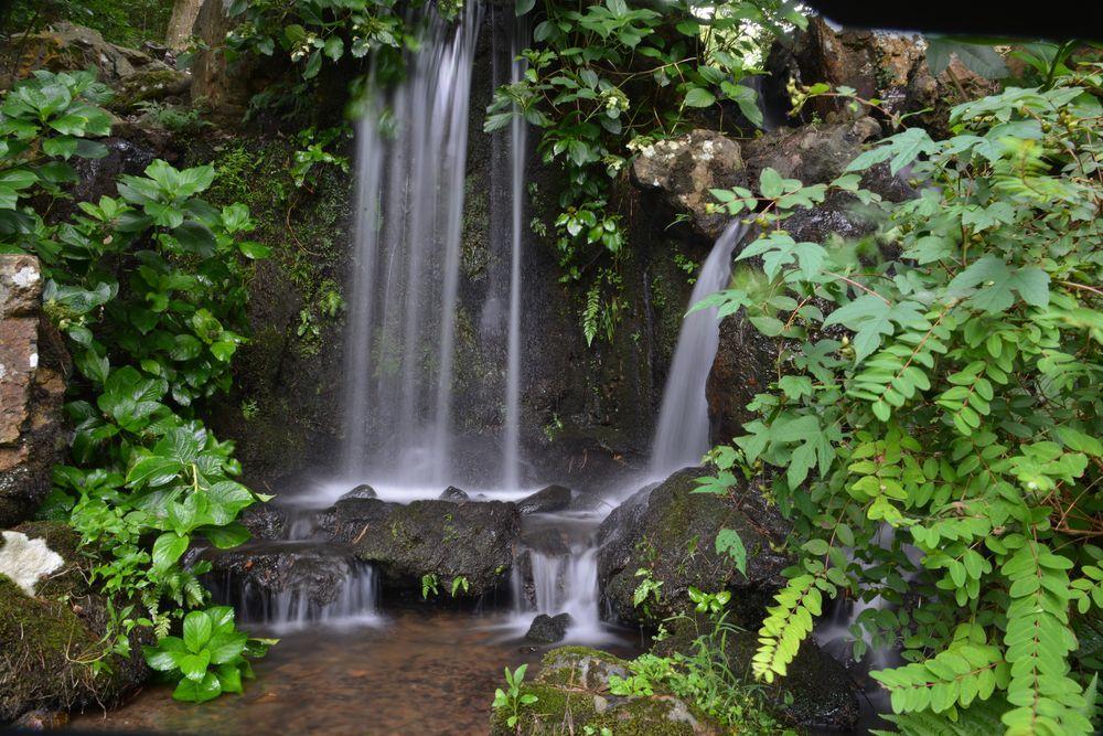 公園の滝-1