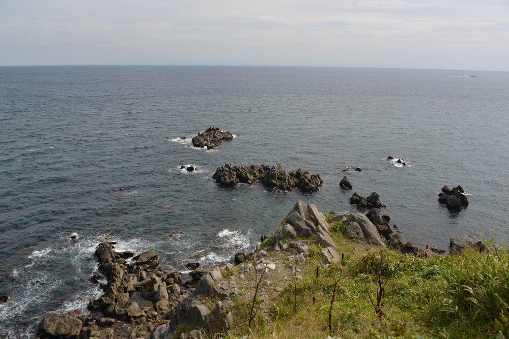 立待岬の岩場-1