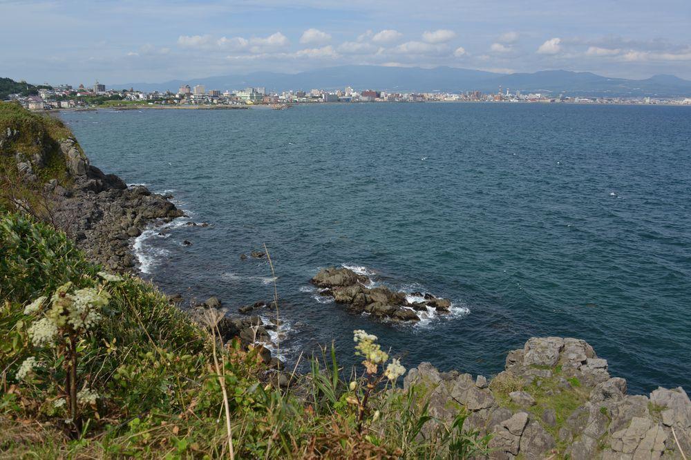 立待岬の岩場-4