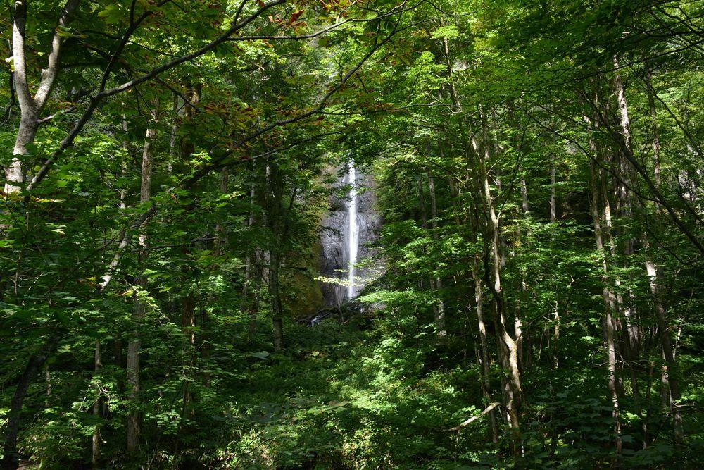 白布の滝へ-2