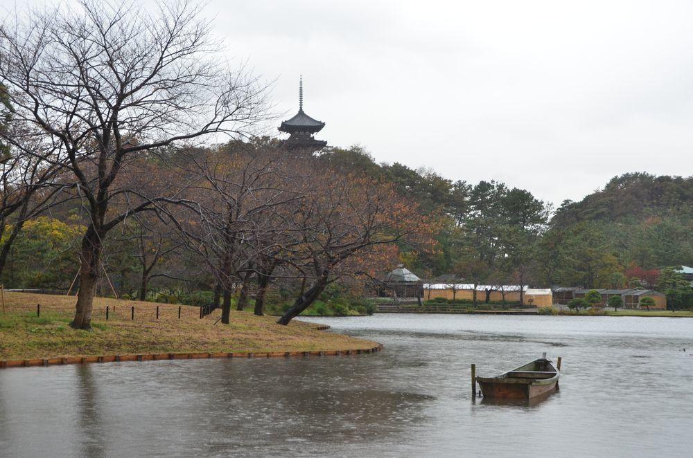 雨の三渓園-2