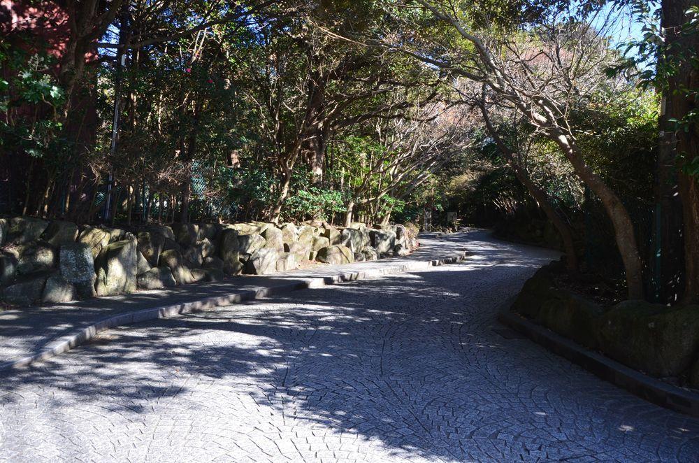 鎌倉文学館 アプローチー1