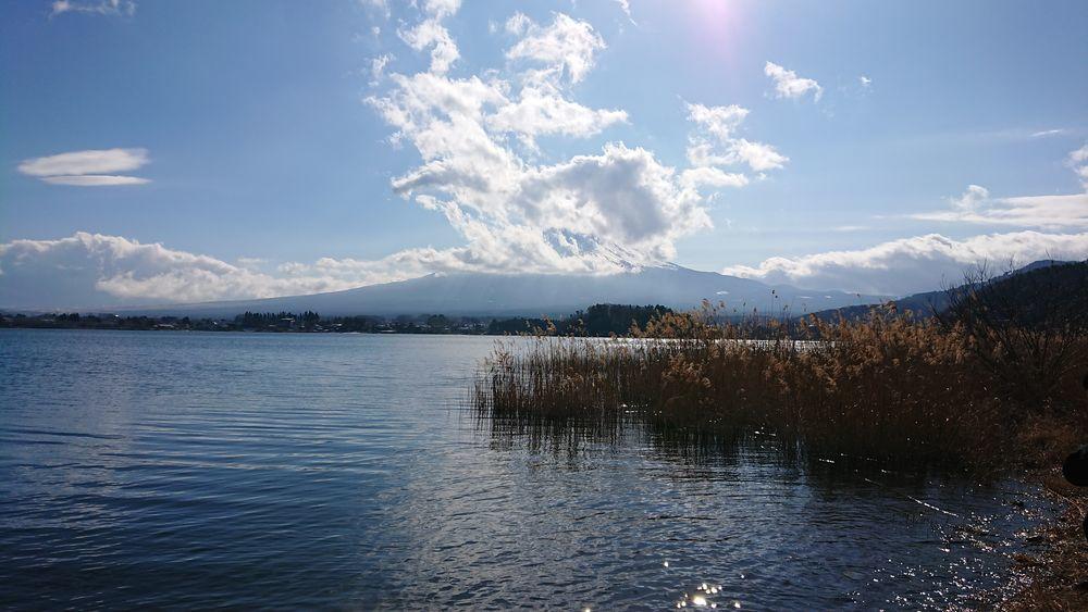 河口湖から-1