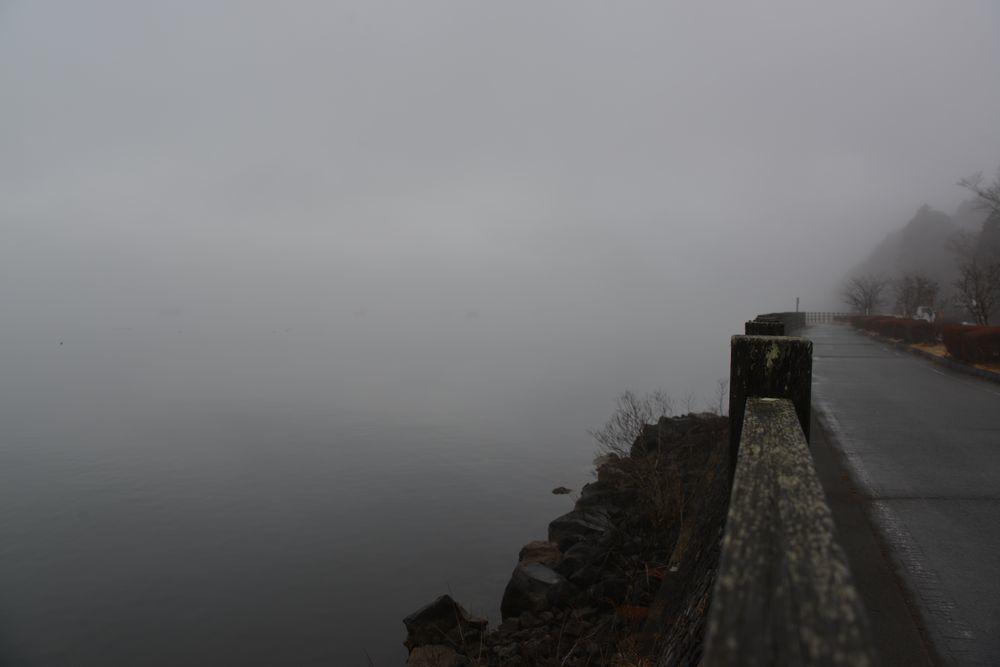 霧の山中湖-3