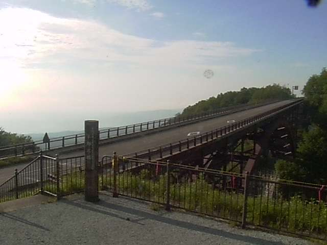 朝の不動沢橋