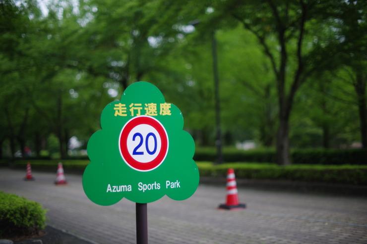 あづま総合運動公園にて