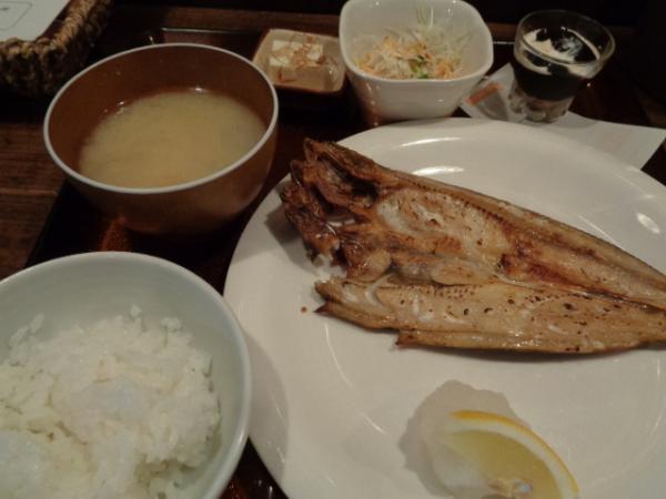 徳井町、daidai・ホッケ定食