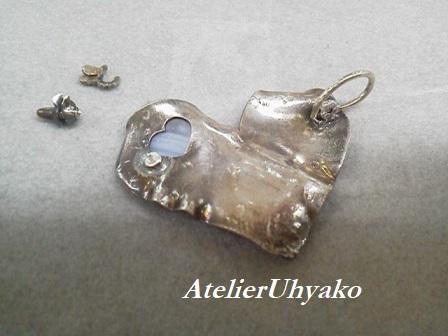 190926東松山丸広クラフト展、破損ブローチ無料リメイク