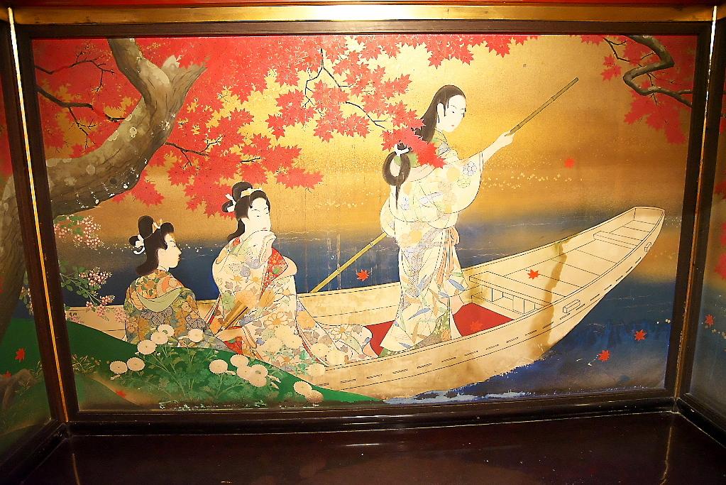 漁樵の間のオリジナルの装飾の様子_2