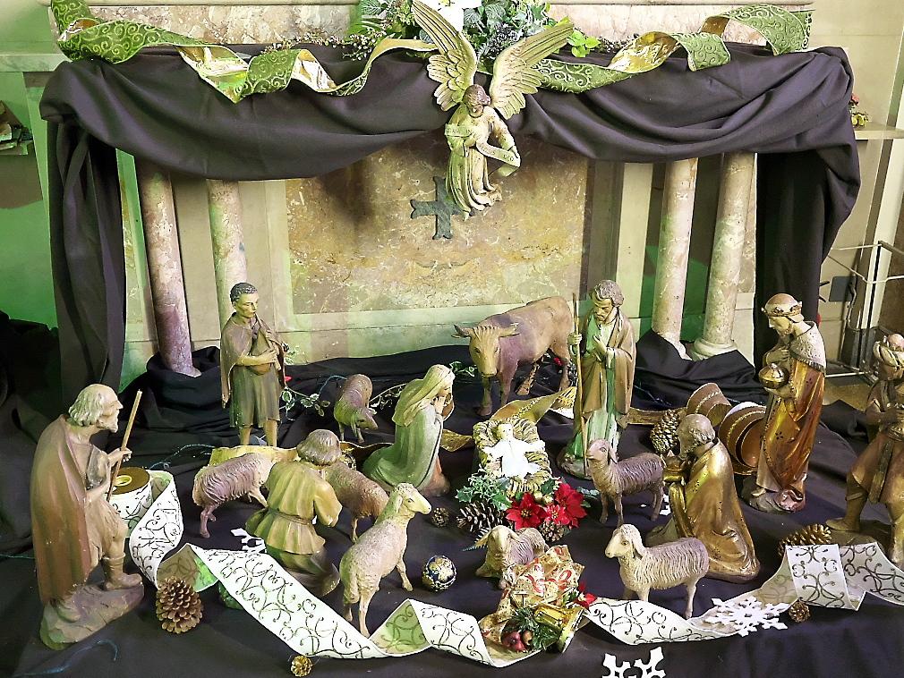 聖堂内にあった飾りつけ
