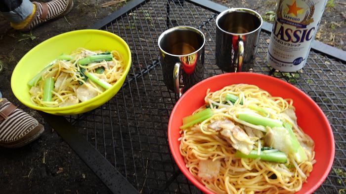お昼ごはん 広東風焼きそば