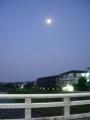 190818高野橋からの月